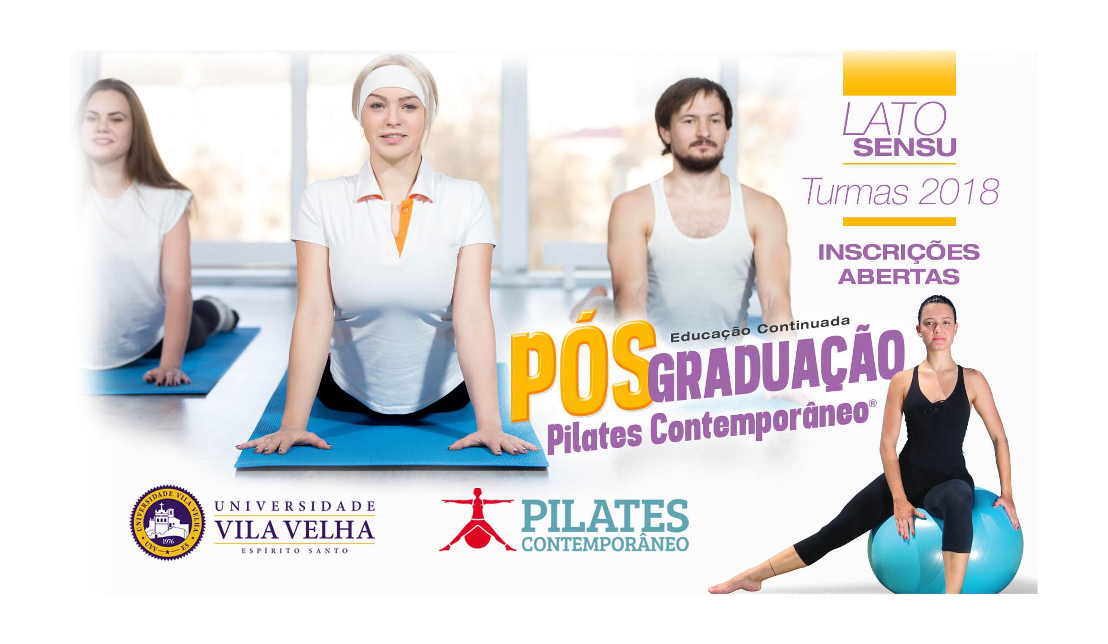 Pós Graduação em Pilates Clínico - UVV e Pilates Contemporâneo
