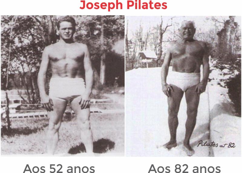 Foto de Joseph aos 52 anos e 82 anos